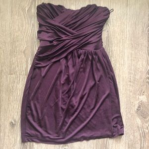 EXPRESS Plum purple sweetheart strapless dress